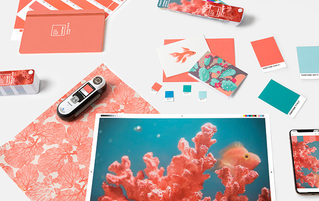 Boutique Retouching pantone-color-of-the-year-2019-living-coral-tools-graphics-packaging Color Harmonies And Color Of The Year 2019 - Living Coral